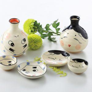 New Hyottoko Sake Set New Okame Sake Set