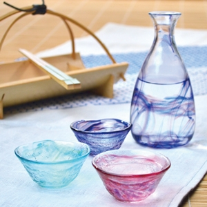 Japanese Glass Sake Set