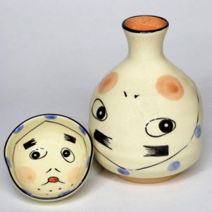 New Hyottoko Sake Set
