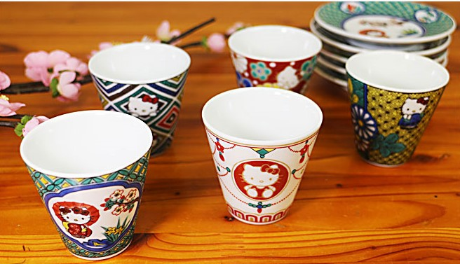 kutani_ware_hello_kitty_sake_cup