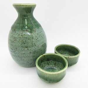 Greenish-Gray Sake Set