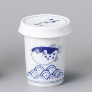 Wave of Pufferfish's fin Sake Set